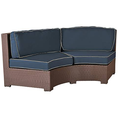 Elements Weave Spectrum Indigo Curved Outdoor Sofa