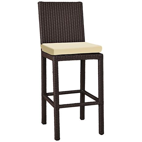 """Elements 26"""" Weave Beige Canvas Outdoor Counter Stool"""