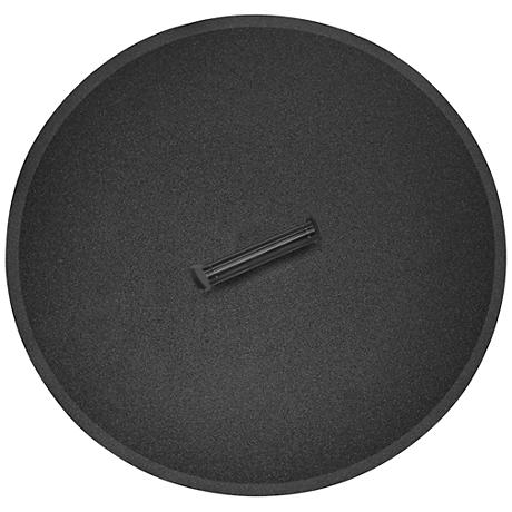 Elements Black Steel Round Fire Table Lid with Handle