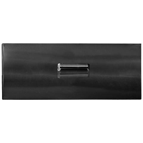 Elements Black Steel Rectangle Fire Table Lid with Handle