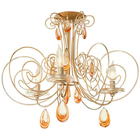 "Varaluz Elysse 20 3/4"" Wide Gold Dust Ceiling Light"