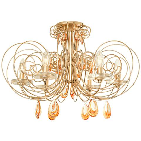 "Varaluz Elysse 24"" Wide Gold Dust Ceiling Light"