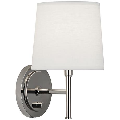 Lamps Plus Plug In Wall Sconces : Robert Abbey Bandit Polished Nickel Plug-In Wall Sconce - #1F758 Lamps Plus