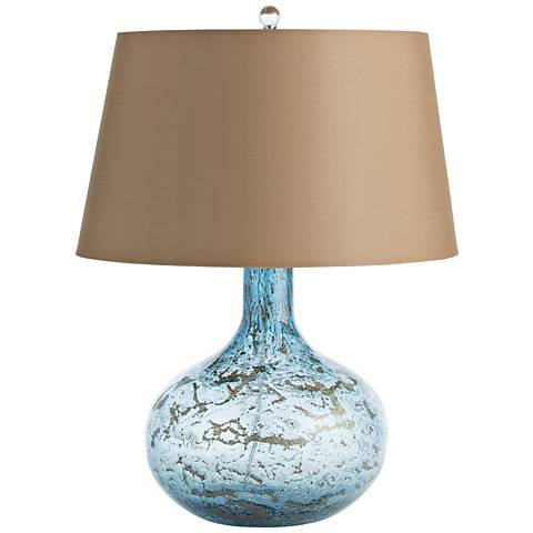 Thom Blue Sand Infused Glass Accent Table Lamp