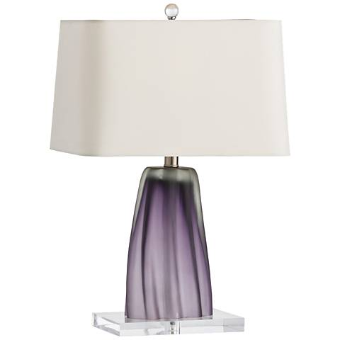Arteriors Home Taylor Violet Glass Striped Accent Table Lamp
