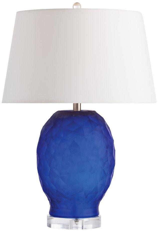 Marvelous Arteriors Home Sybil Cobalt Blue Glass Table Lamp