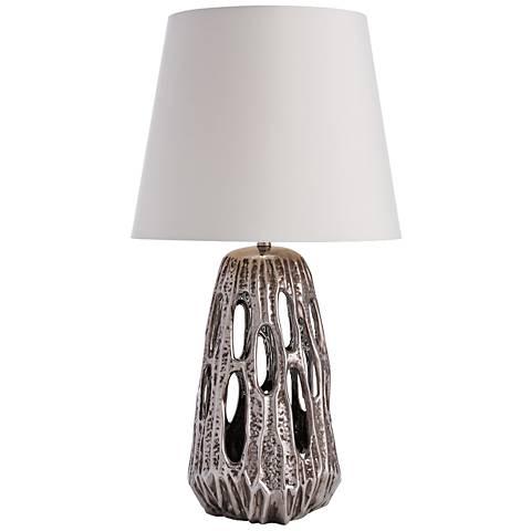 Arteriors Home Tribeca Darkened Silver Ceramic Table Lamp