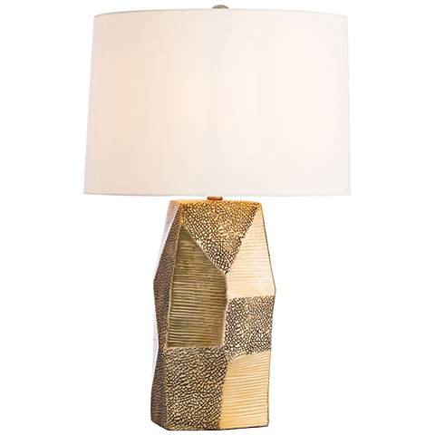Arteriors Home Sweeney Gold Ceramic Faceted Table Lamp