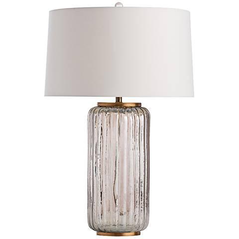 Arteriors Home Sibley Smoked Glass Column Table Lamp