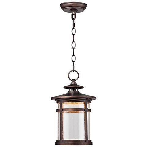 "Callaway Rustic Bronze 13 1/2"" High LED Hanging Light"