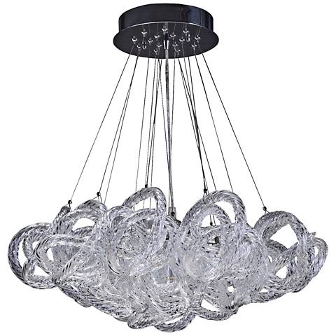 "Infinity 18"" Wide Clear Italian Glass 5-light Pendant"