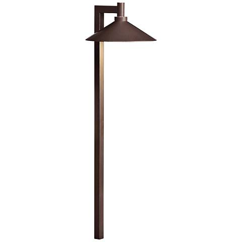 "Kichler Landscape 26""H 2700K LED Brass Ripley Path Light"