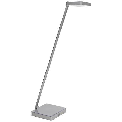 Kempton Silver LED Desk Lamp with Photo Base