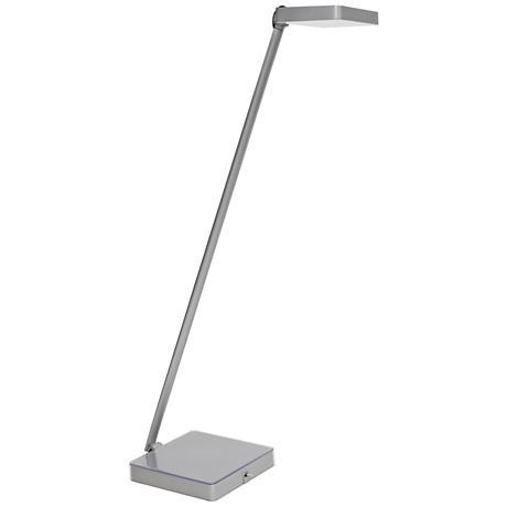 Kempton Silver LED Desk Lamp with Photo Base