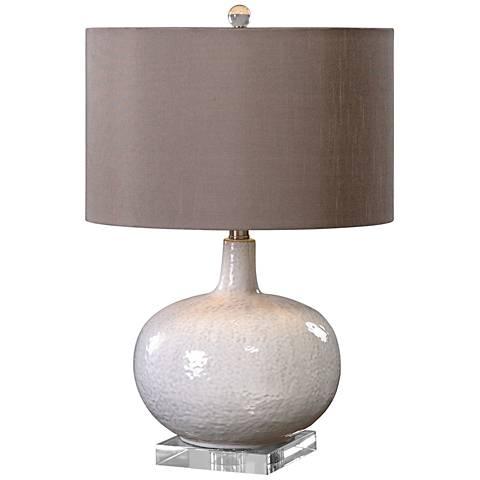 Uttermost Parvati White Textured Ceramic Table Lamp