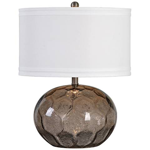 Uttermost Jasperse Seeded Smoky Amber Glass Table Lamp
