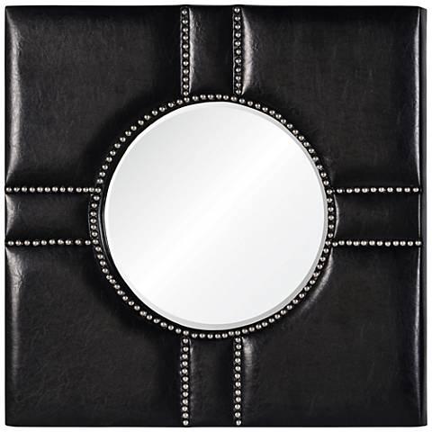 """Cooper Classics Quentin Black 32"""" Square Wall Mirror"""