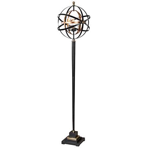 Uttermost Rondure Metal Armillary Sphere Floor Lamp