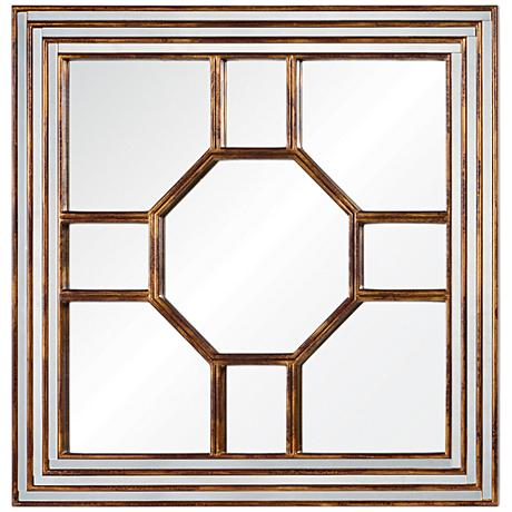 "Cooper Classics Arabella Gold 40"" Square Wall Mirror"