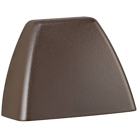 "Kichler 4-Corners 3 1/4"" Wide Bronze 2700K LED Deck Light"