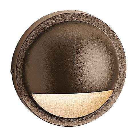 "Kichler 4"" Wide 2700K LED Bronze Half Moon Deck Light"
