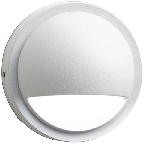 "Kichler 4"" Wide 3000K LED White Half Moon Deck Light"