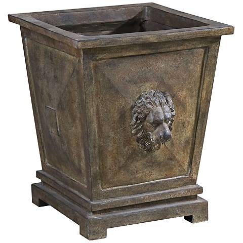 Uttermost Tobia Burnt Terracotta Square Planter