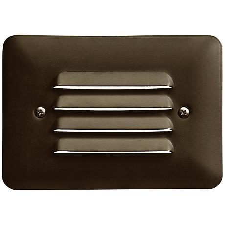 "Kichler Landscape 5"" Wide Brass 2700K LED Mini Step Light"