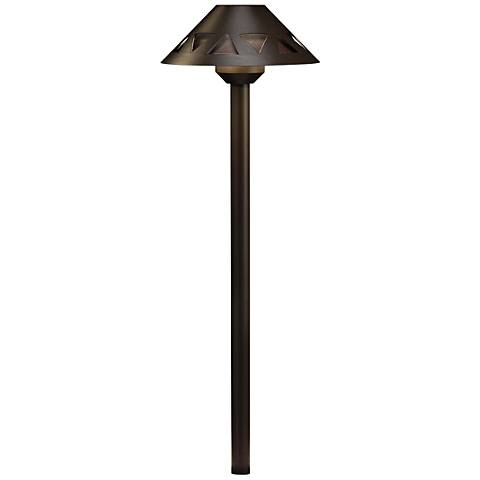 "Kichler Triangle Cut-Out 21""H Bronze 2700K LED Path Light"