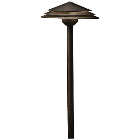 "Kichler Round Tiered 21"" High Bronze 3000K LED Path Light"