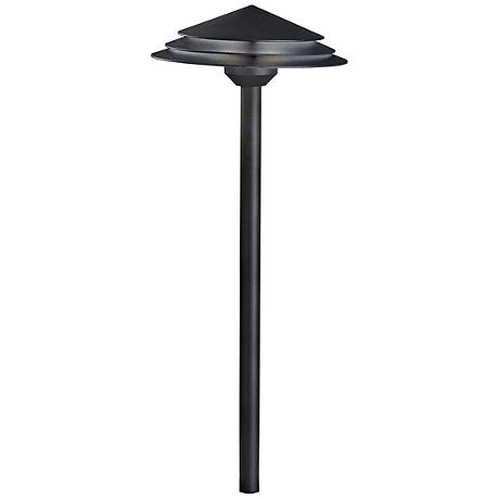 "Kichler Round Tiered 21"" High Black 2700K LED Path Light"