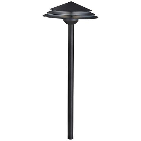 "Kichler Round Tiered 21"" High Black 3000K LED Path Light"