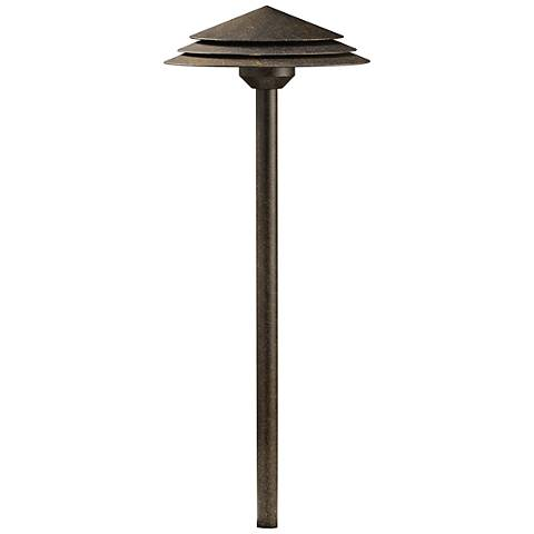 "Kichler Tier 21""H Round Crimson Wood 2700K LED Path Light"