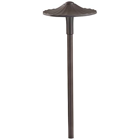 "Kichler Landscape Flare 21""H Brass 3000K LED Path Light"