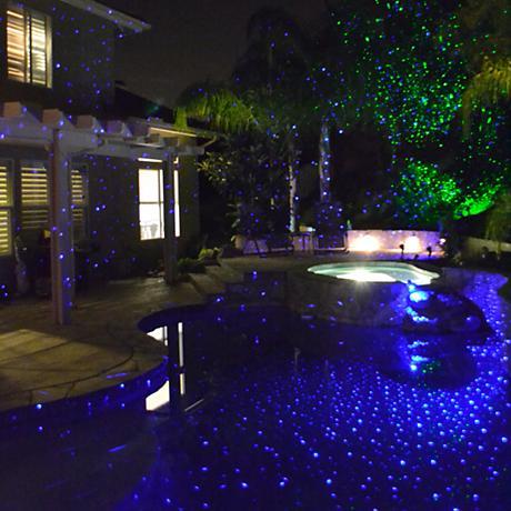 Perma Bright Blue Laser Projector Landscape Light
