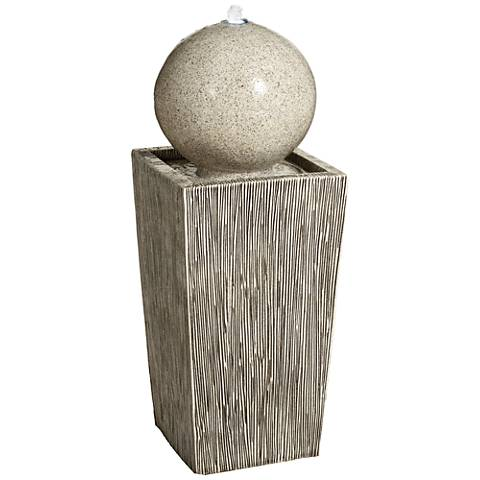 "Modern Lines 31"" High LED Indoor/Outdoor Column Fountain"