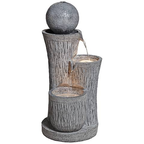 "Trilage Tiered 34"" High Indoor/Outdoor Floor Fountain"