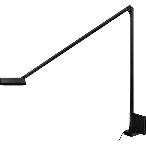 Quattro Black Plug-In Double Arm LED Wall Lamp