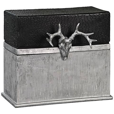 Uttermost Adil Silver and Matte Black Decorative Box