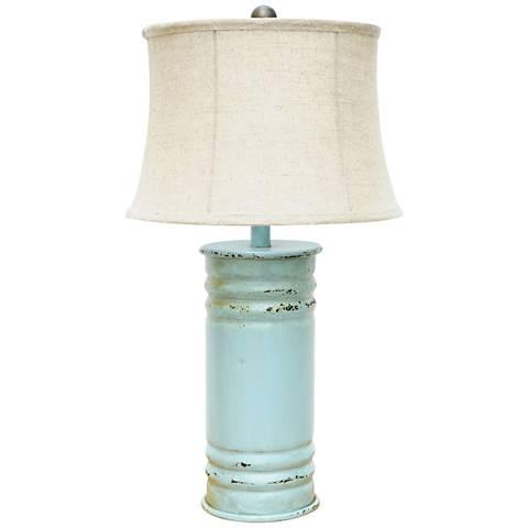 Crestview Collection Antique Can Antique Blue Table Lamp