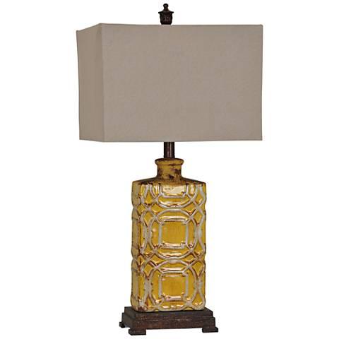 Chatham Antique Yellow Ceramic Table Lamp