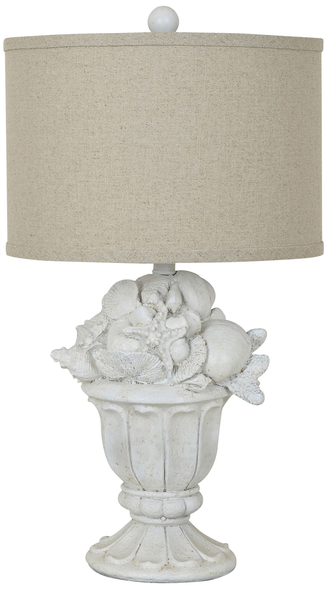 Good Crestview Collection Shell Urn White Washed Table Lamp