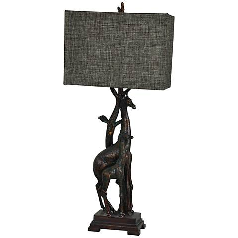 Crestview Collection Giraffe Bronze Table Lamp