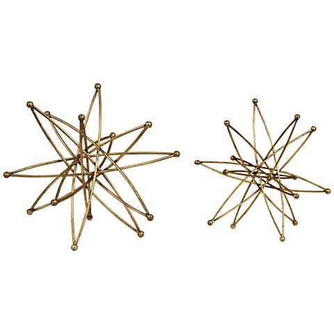 Uttermost Constanza Gold 2-Piece Table Top Accessories Set