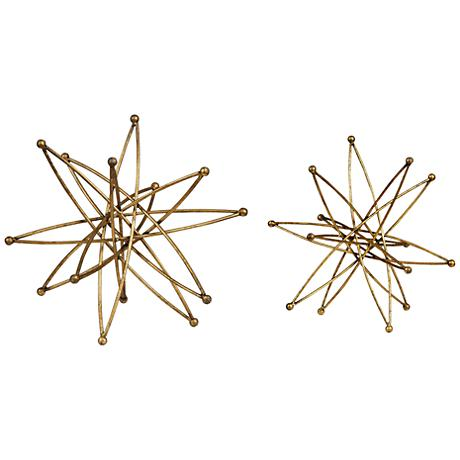 Uttermost Constanza Gold 2-Piece Table Top Accessories Set