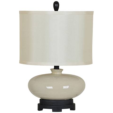 Crestview Collection Tempo White Ceramic Table Lamp