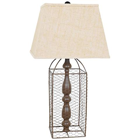 Crestview Collection Coop Rustic Table Lamp