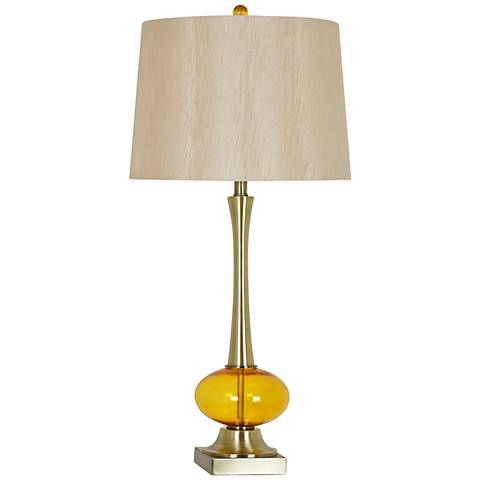 Crestview Collection Jeanie Gold and Amber Table Lamp
