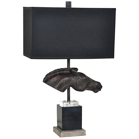 Crestview Collection Equine Equestrian Bronze Table Lamp