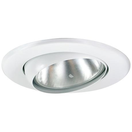 "5"" White Gimbal Recessed Light Eyeball Trim"